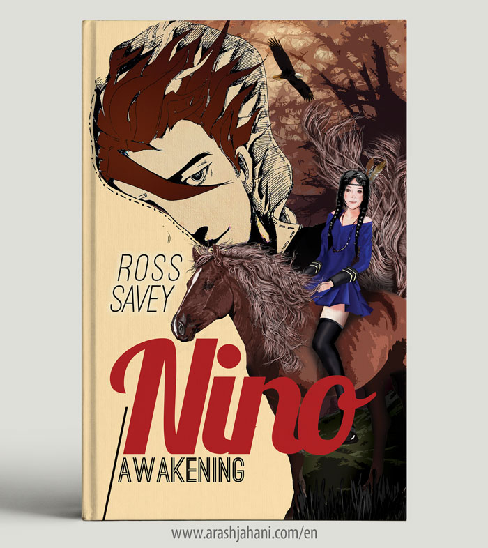 book cover design nino