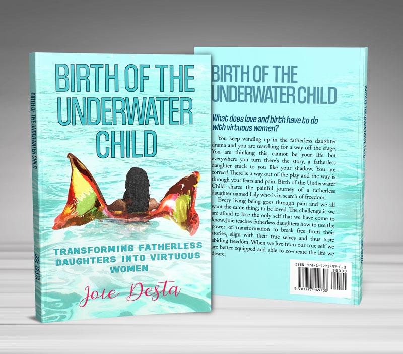 birth of the underwater child book cover designer