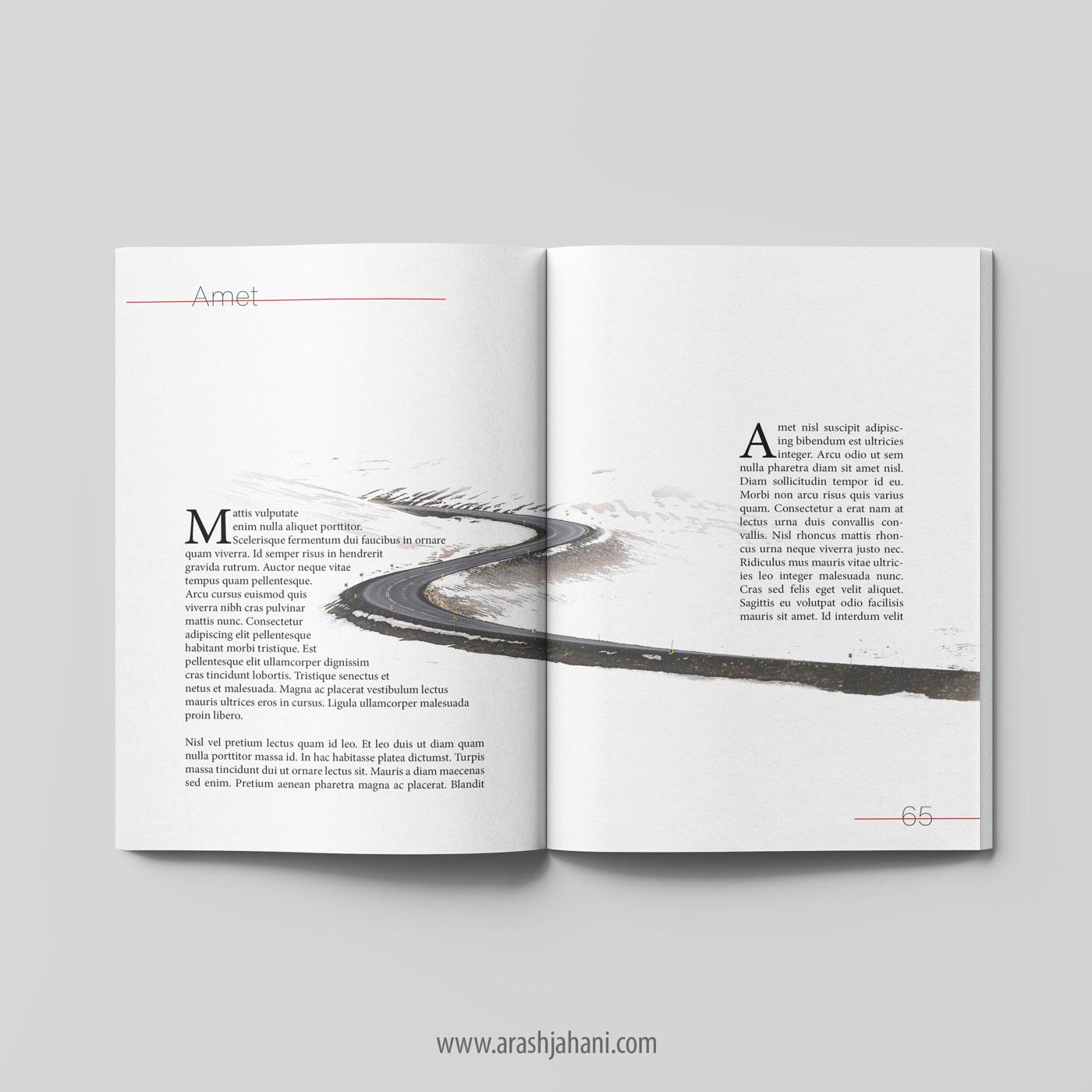 book format design