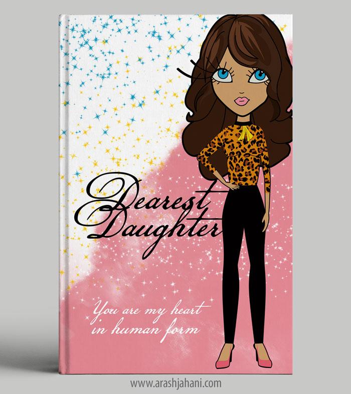 Dearest daughter Book cover designer