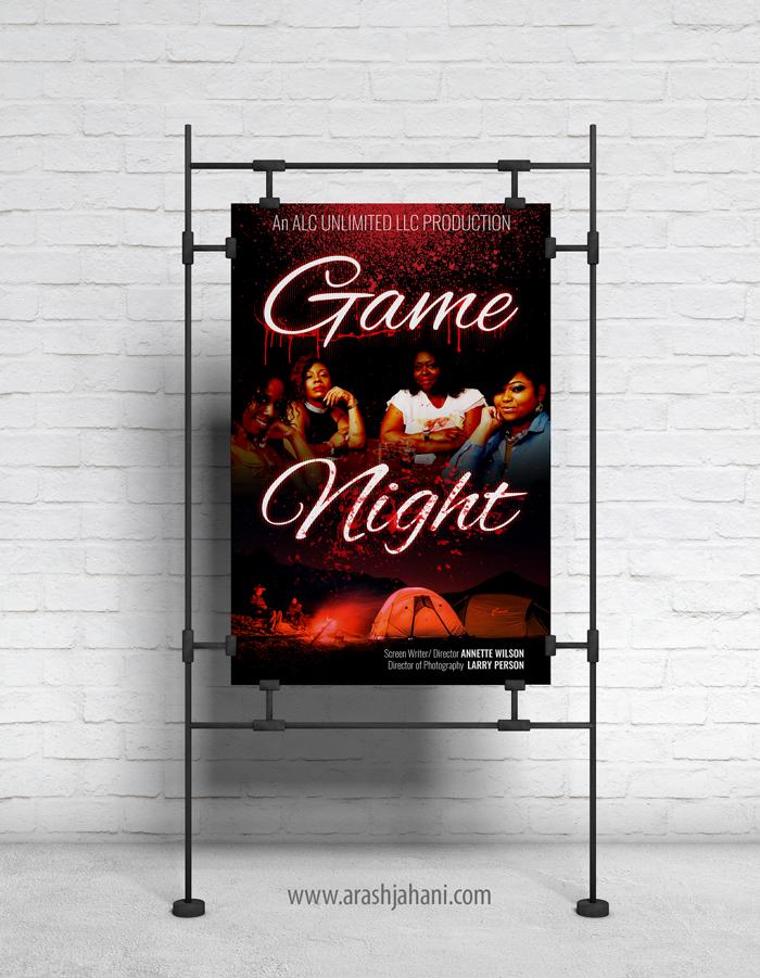 Game Night Movie poster designer